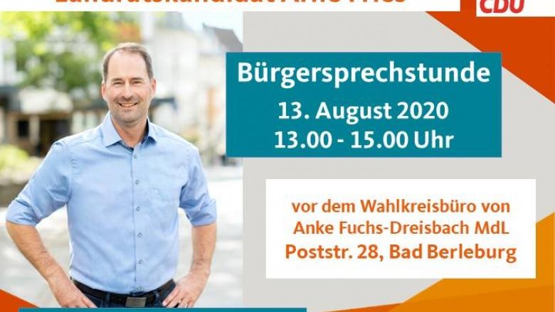 Bürgersprechstunde mit Landratskandidat Arne Fries
