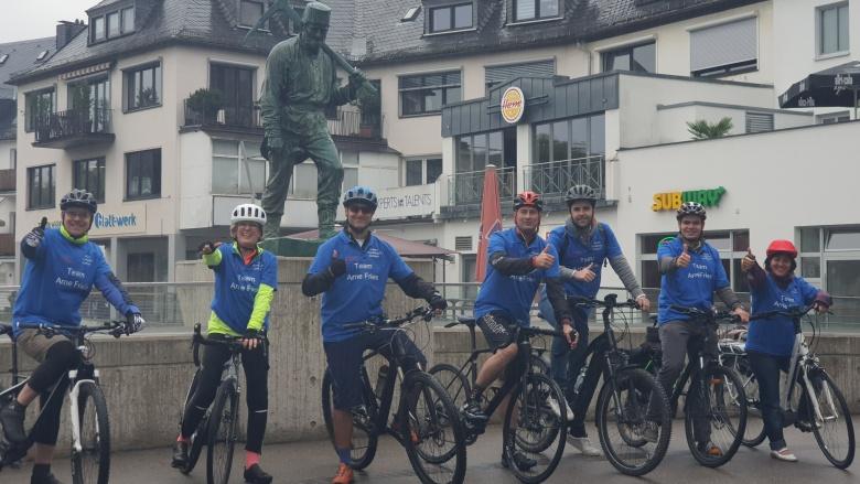 Radeln für das Radschnellweg-Projekt