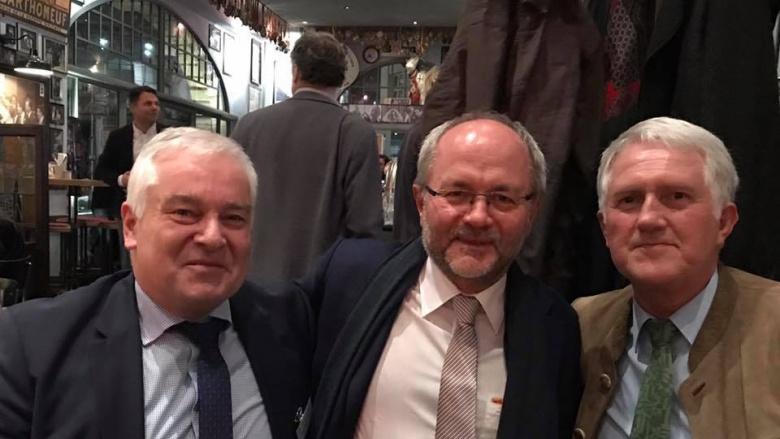 v.l.n.r. Georg Schirmbeck (Präsident des Deutschen Forstwirtschaftsrats), Volkmar Klein (MdB), Bernhard Halbe (Vorsitzender der kommunalen Waldbesitzer)